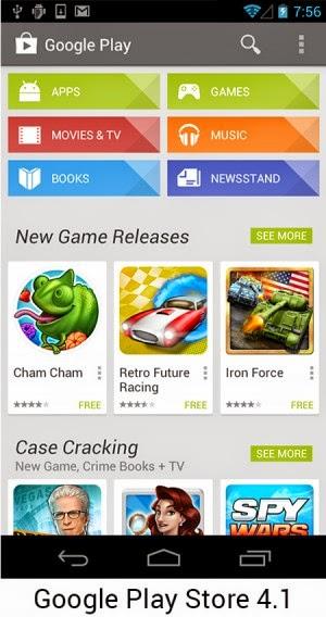 Android 4.1 Perbaikan tambilan dan bug