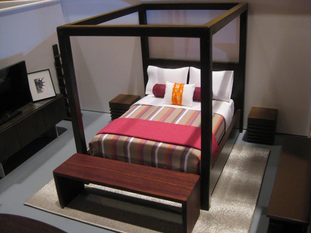 Modern mini houses for Dollhouse bedroom ideas