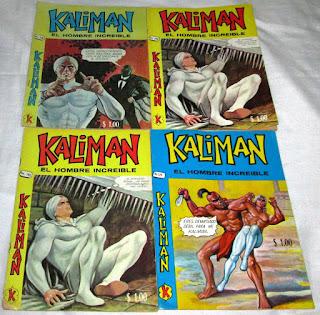 Diversos numeros del comic del superheroe Kaliman