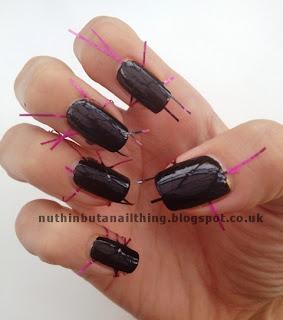 Laser gradient manicure