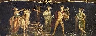 Casa de los Vetii. 11. Triclinium (Sala de los Cupidos; entrada desde corredor derecho del peristilo) - Ifigenia