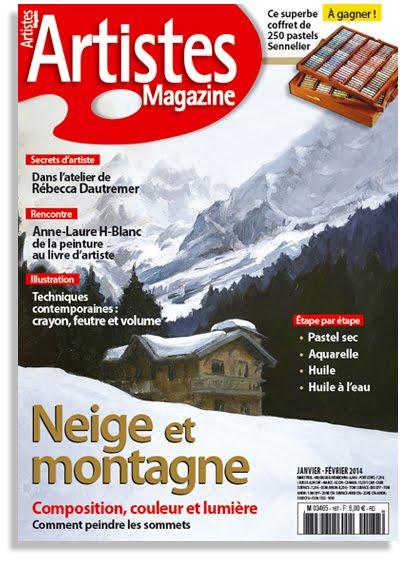 Publication dans Artistes Magazine