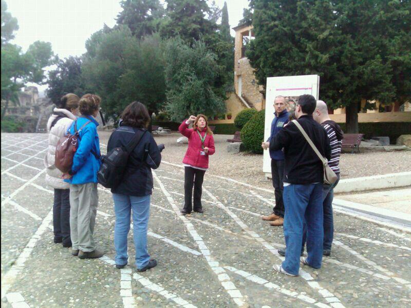 Imagen de la visita al Conjunto Arqueológico de Itálica