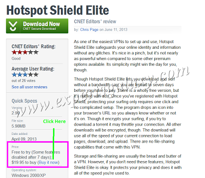 Hotspot Shield VPN Giveaway
