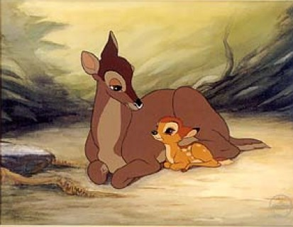 Bambi and mother Bambi 1942 disneyjuniorblog.blogspot.com