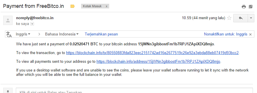 Cara Meningkatkan Penghasilan BitCoin di Freebitco.in dan Bukti Pembayaran September 2014