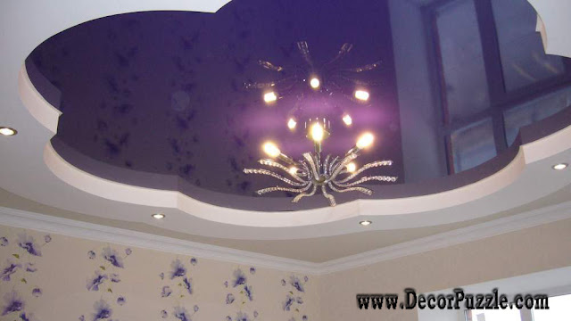 stretch ceiling, stretch ceilings, pvc ceiling, purple stretch ceiling