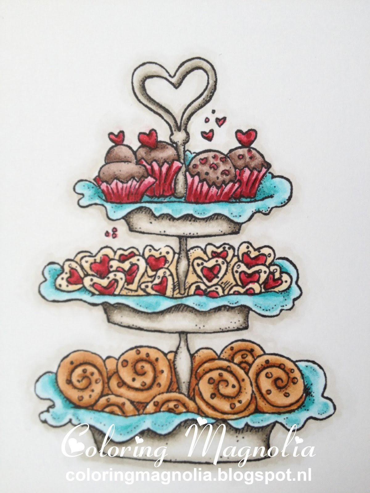 Coloring Magnolia Stamp 2013 With Love Collection - Baked With Love