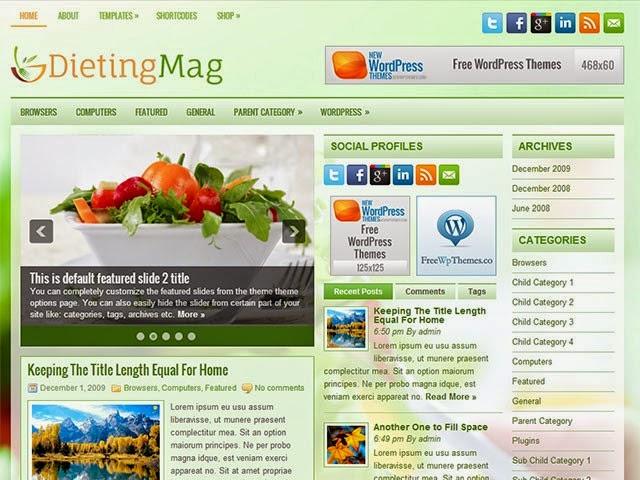 DietingMag - Free Wordpress Theme