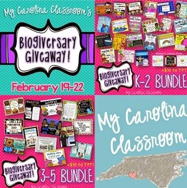 http://mycarolinaclassroom.blogspot.com/2015/02/blogiversary-giveaway.html
