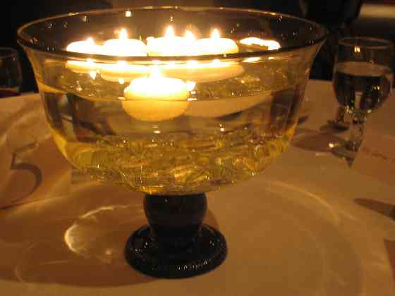 Glass bowls for centerpieces