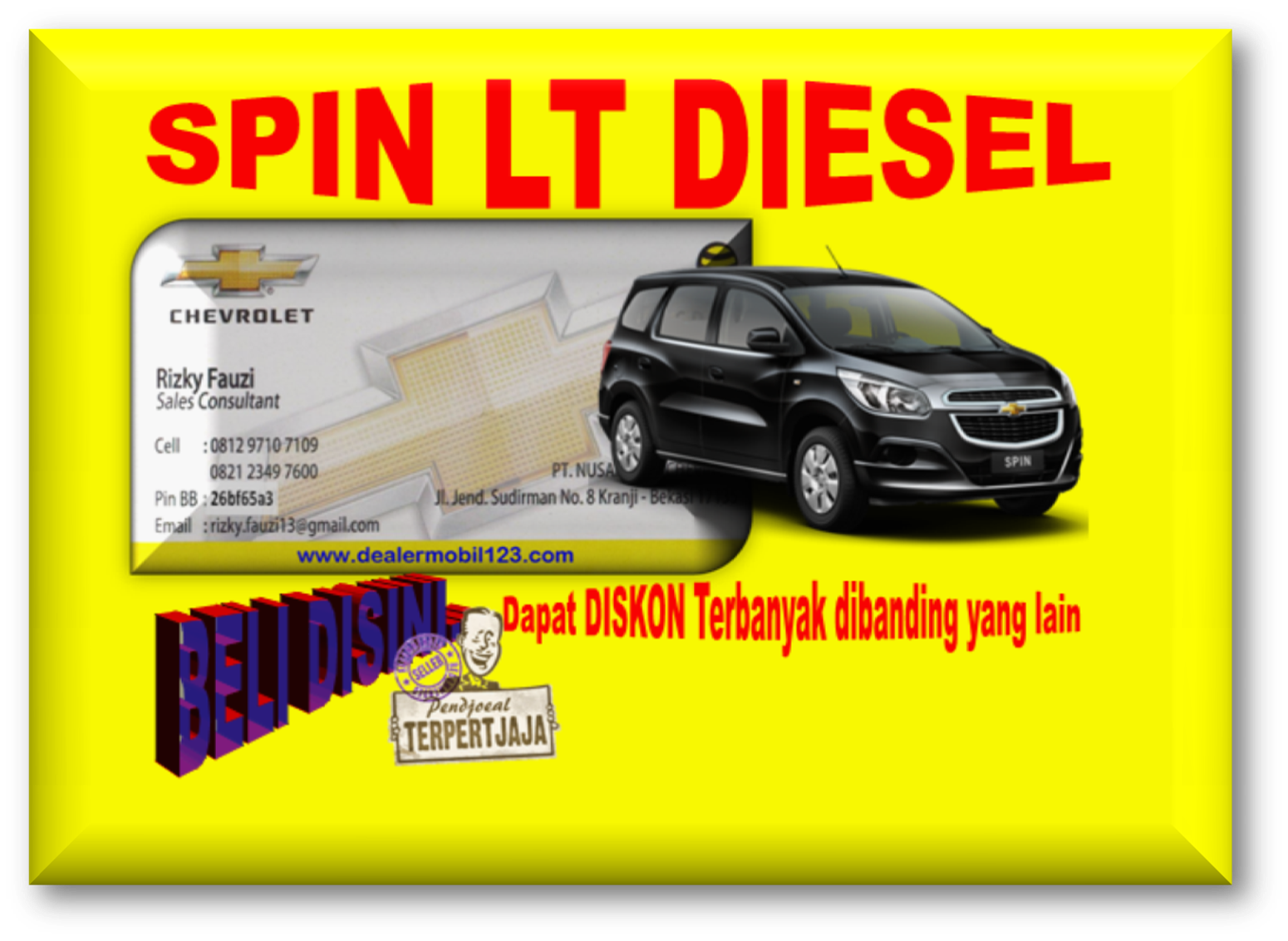 Spin LT Diesel Diskon Terbanyak 0812 9710 7109