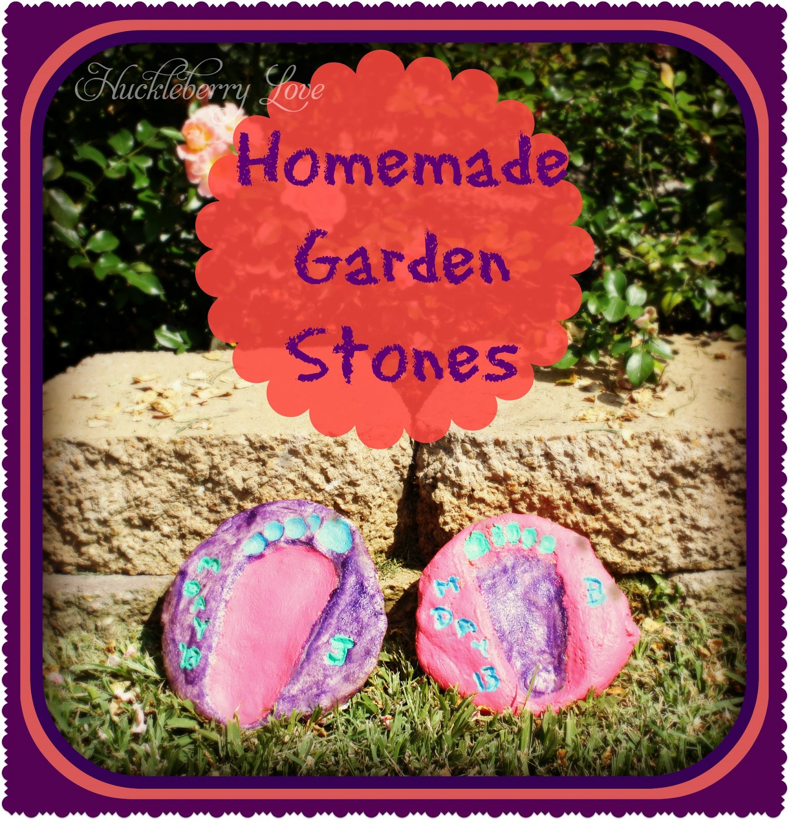 garden stone loving planet memory personalized main in stones