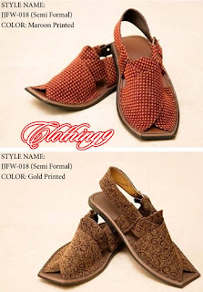 J.Junaid-Jamshed Peshawari footwear for eid