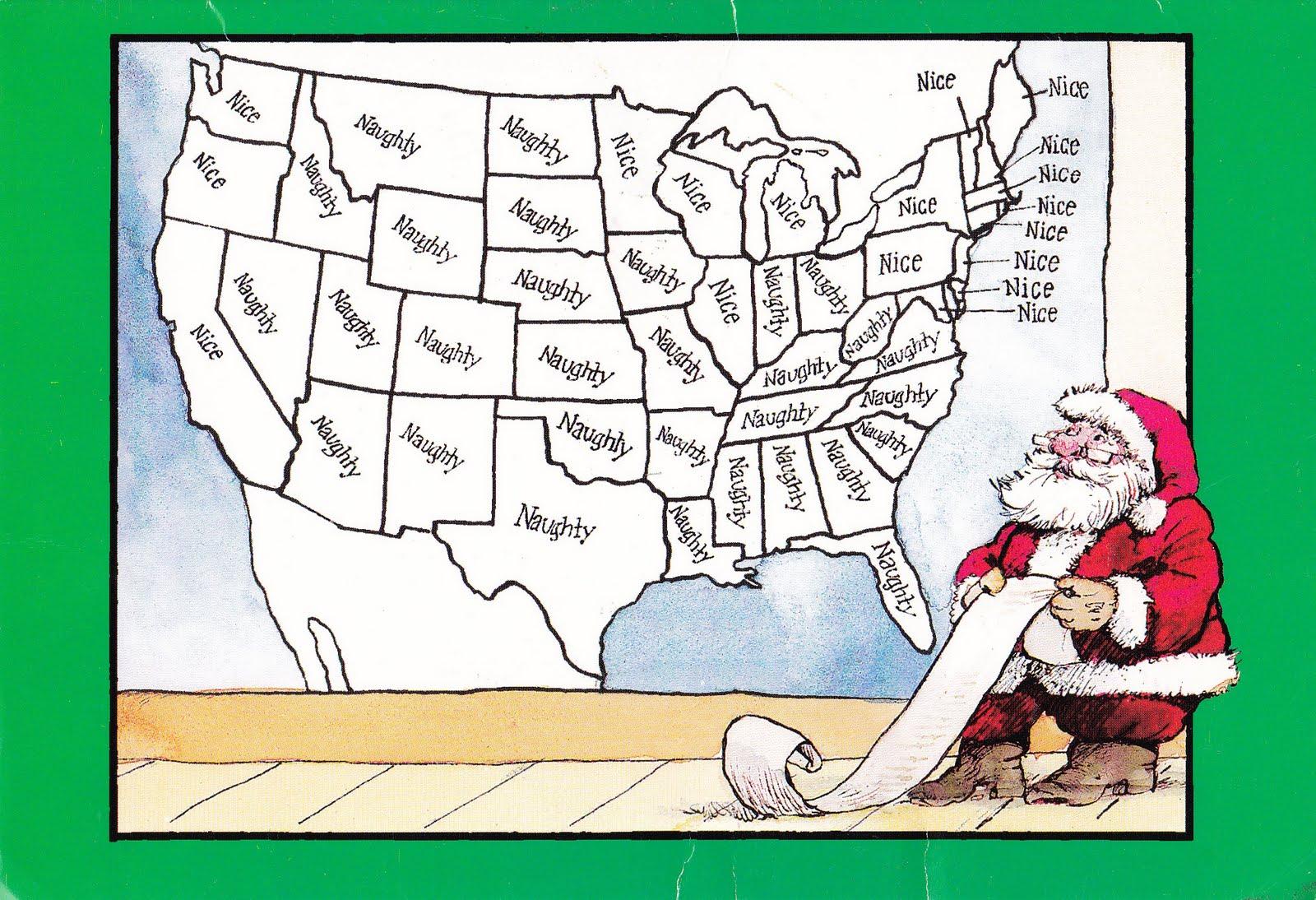 My Life Scanned Naughtynice Usa Christmas Card