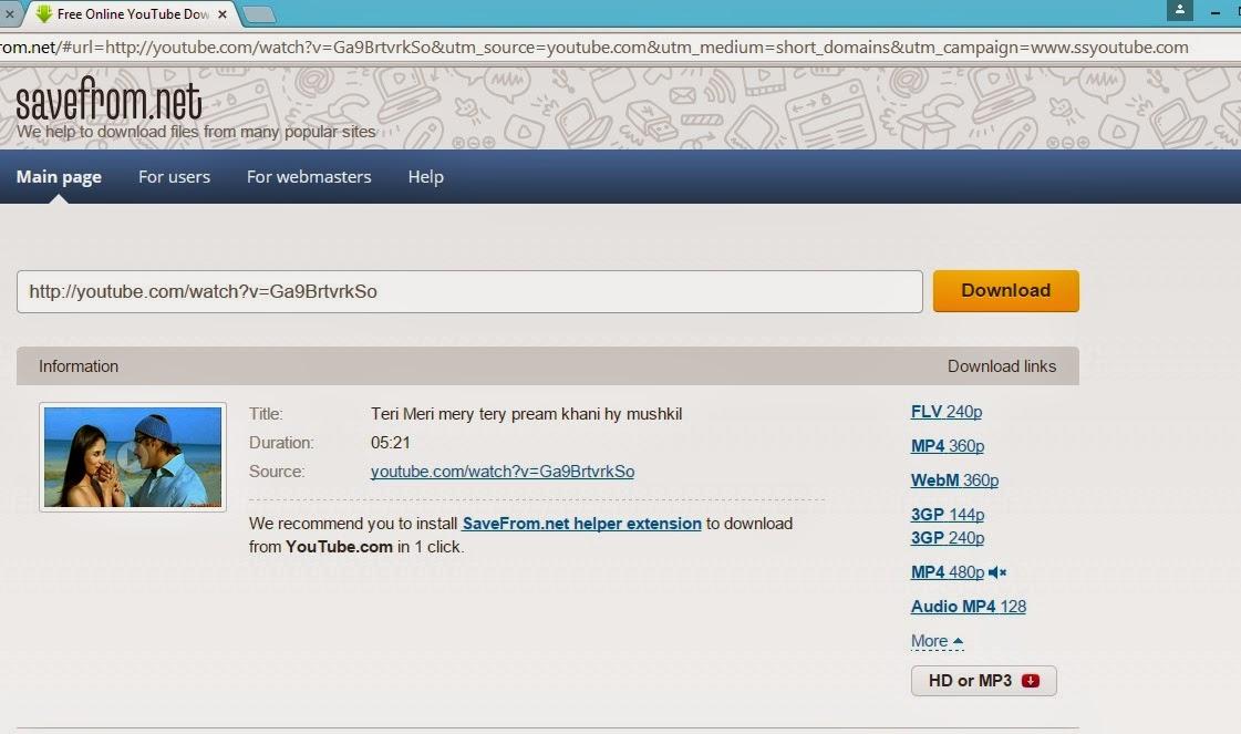 cara download video youtube free tanpa software