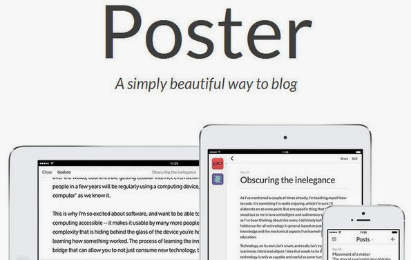 Poster blogging app for iPad
