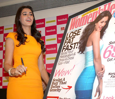 nargis fakhri launches womens health magazine