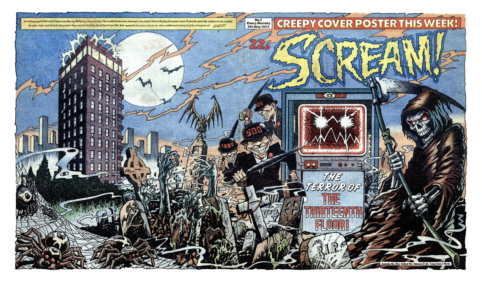 Starlogged Geek Media Again 1984 Scream Issue 7 Ipc