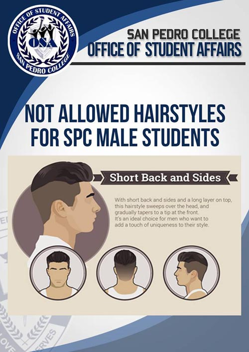 San Pedro College hairstyle for male students short back and sides