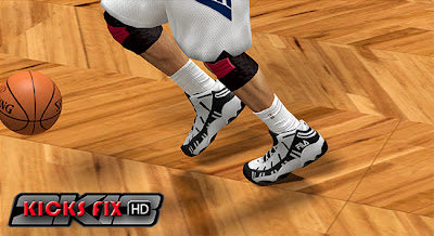NBA2K13 FILA Stackhouse Spaghetti Edited Shoes