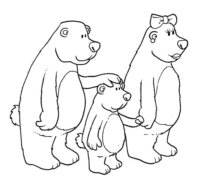 Fichas Infantiles Dibujos para colorear de ricitos de oro
