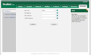 Access Yealink via Web Interface