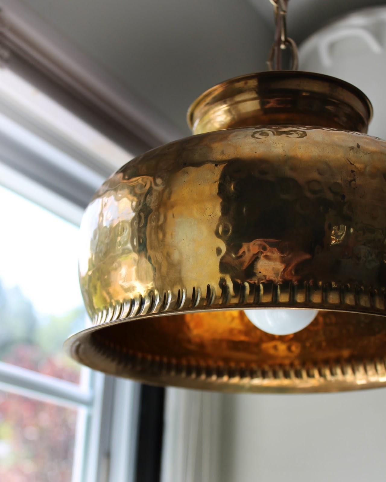 Hunted Interior: DIY Brass Bowl Pendant + Kitchen Sneak Peek