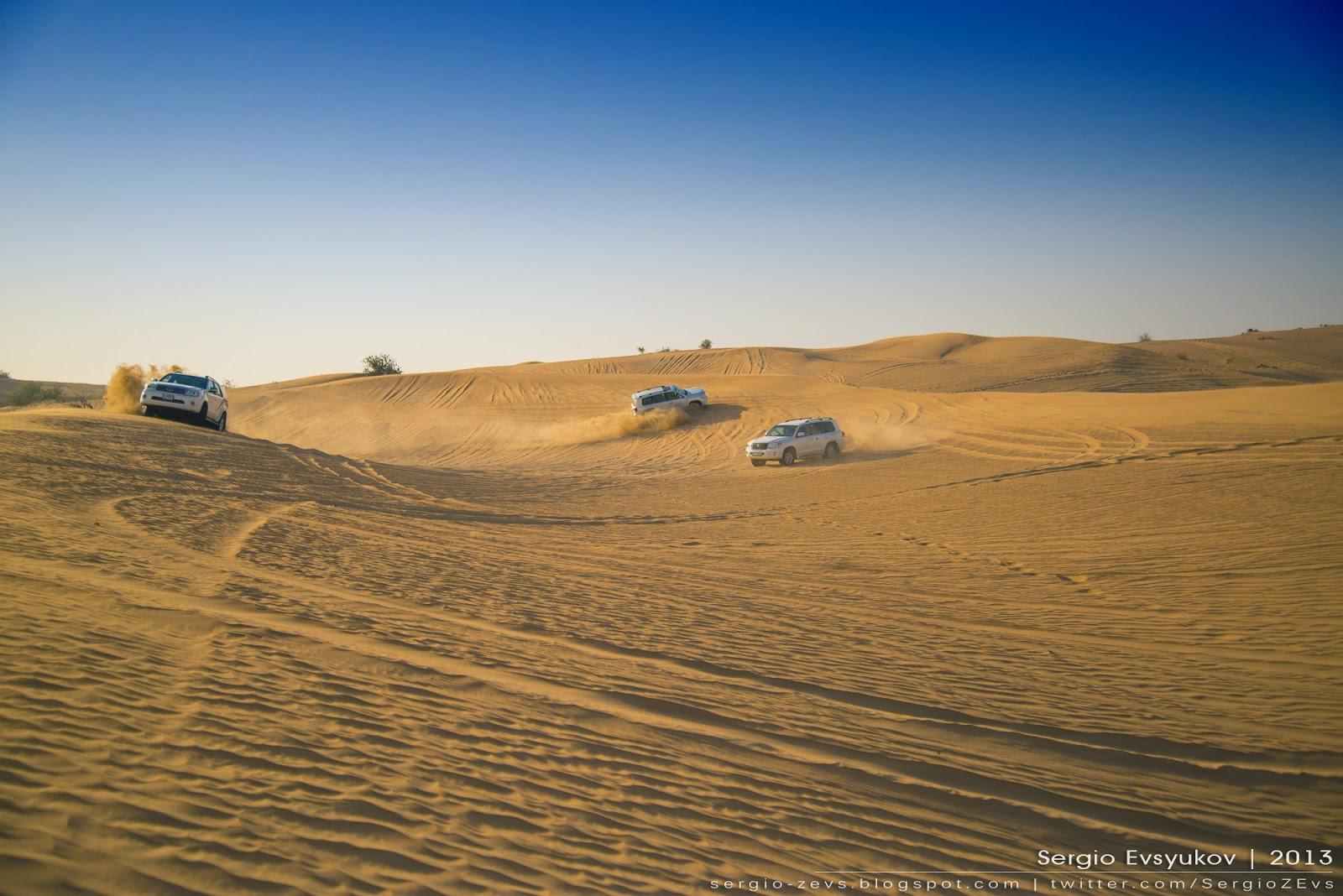 UAE, Safari, Внедорожники, песок, барханы, дюны, отпуск