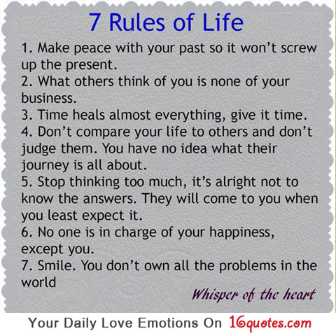 Quotes About Life Rules