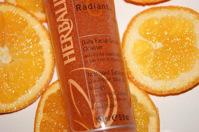 scrub viso radiant c herbalife