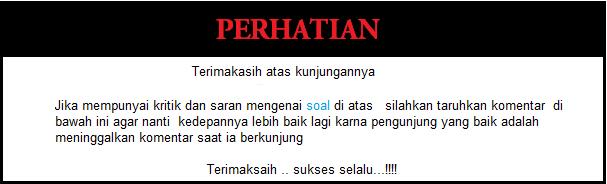 Soal  Kelas 3 SD Bahasa Indonesia semeester