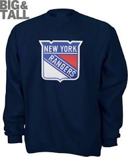 Big and Tall New York Rangers Crew Sweatshirt