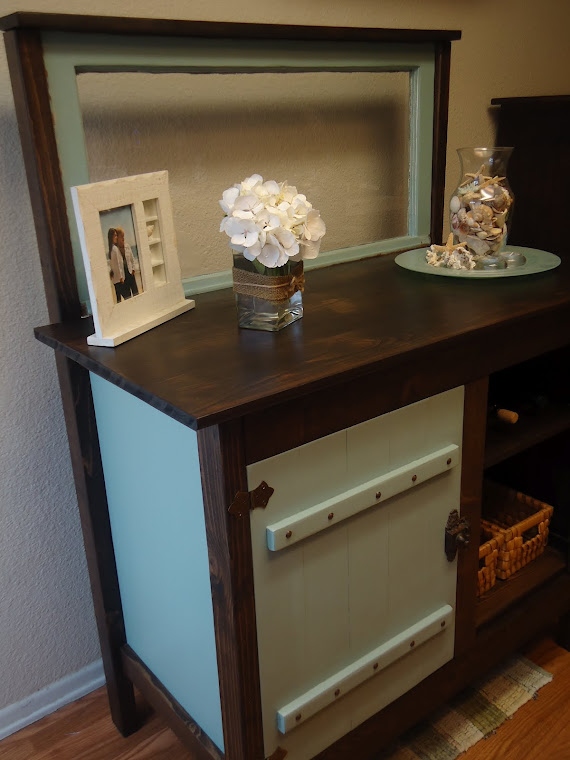 Repurposed Desk to Vintage Window Table- SOLD