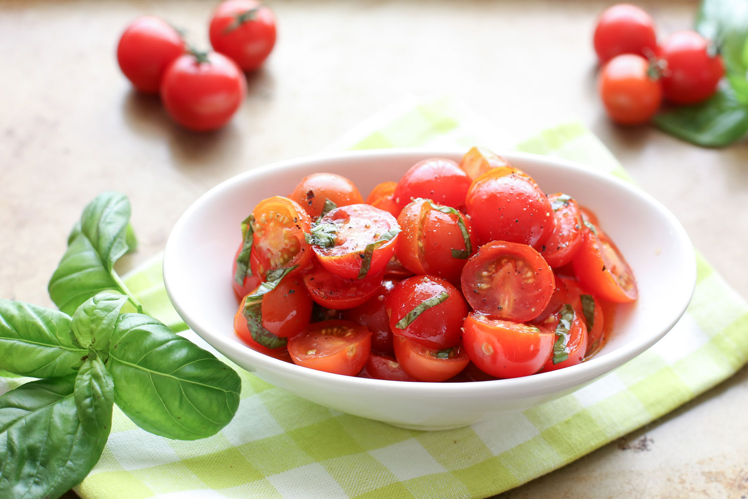 Sweet Spicy Marinated Tomatoes recipe by Barefeet In The Kitchen