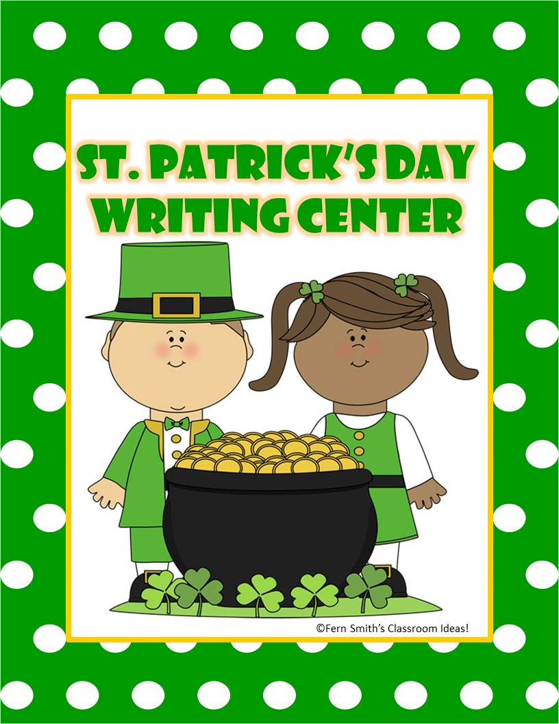 Classroom Leprechaun Ideas ~ Free st patrick s day writing center fern smith