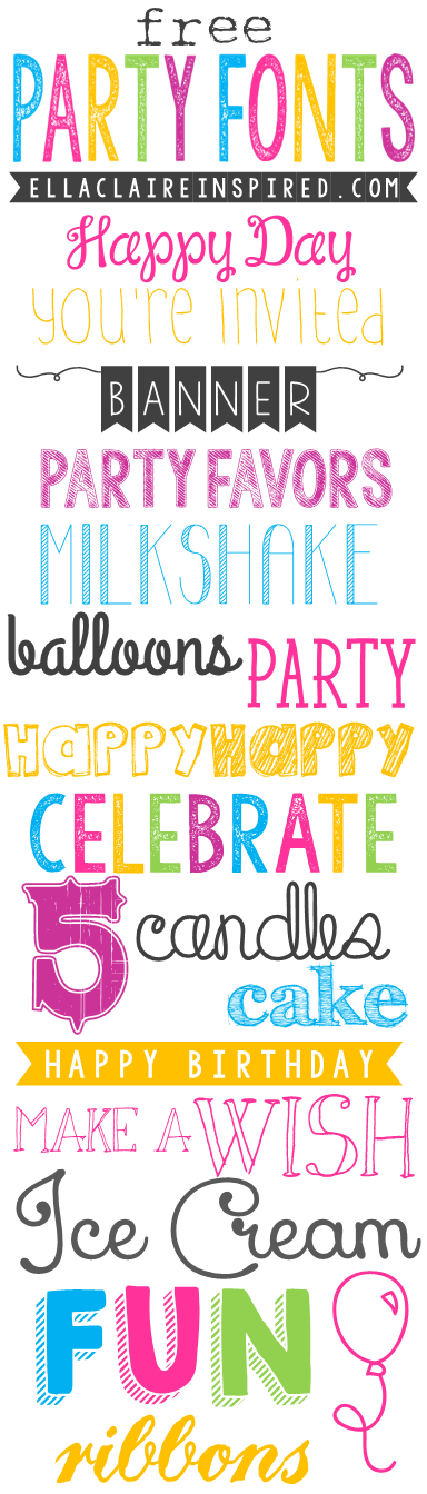 Free Party Fonts | Ella Claire | Bloglovin'