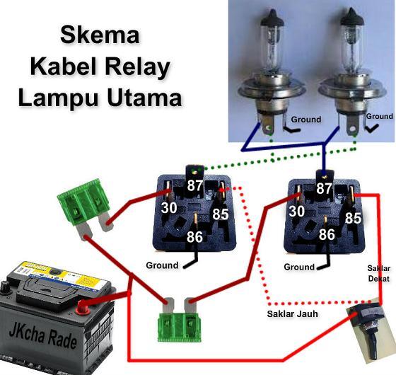 fungsi relay lampu mobil dan cara pemasangannya
