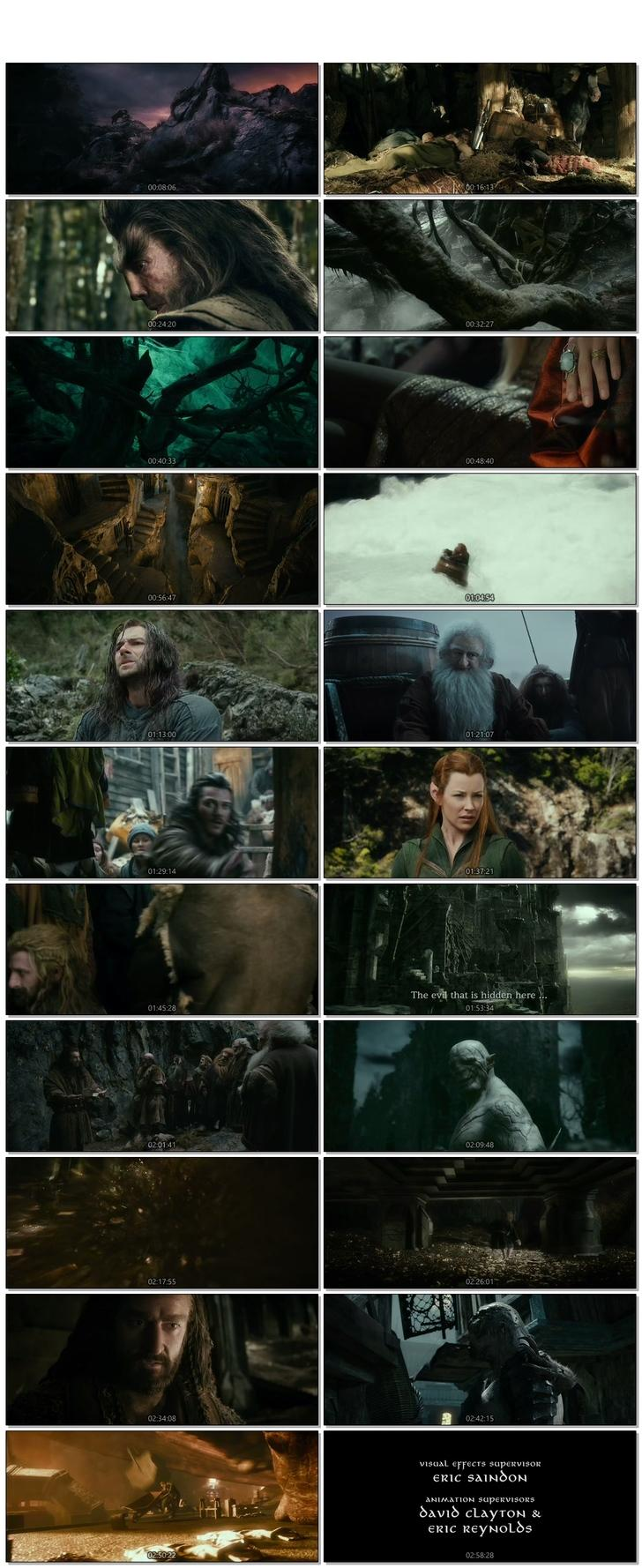 Screen Shot Of The Hobbit The Desolation of Smaug 2013 300MB Full Movie Hindi Dubbed Free Download 720P BRRip HEVC