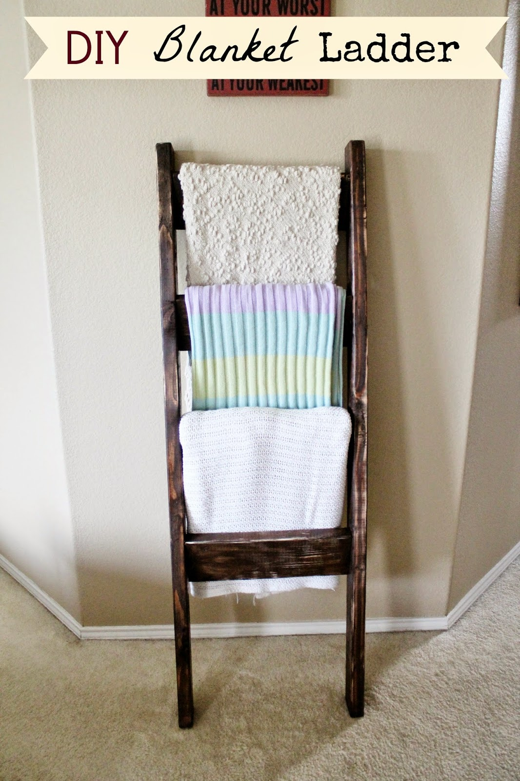 Diy Blanket Ladder Tucker Up Diy Blanket Ladder