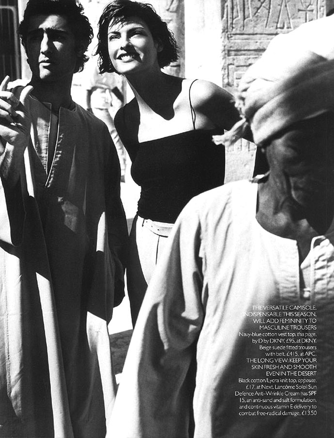 Linda Evangelista in Vogue UK May 1997 (photography: Mario Testino)