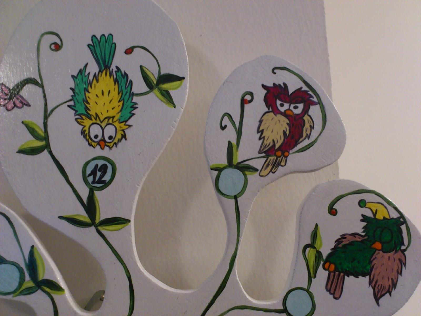 Officina ceramica by bv creazioni orologio gufoso da muro for Orologio da muro farfalle