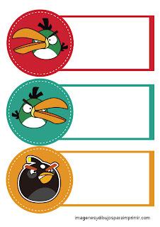 Diferentes personajes de angry birds