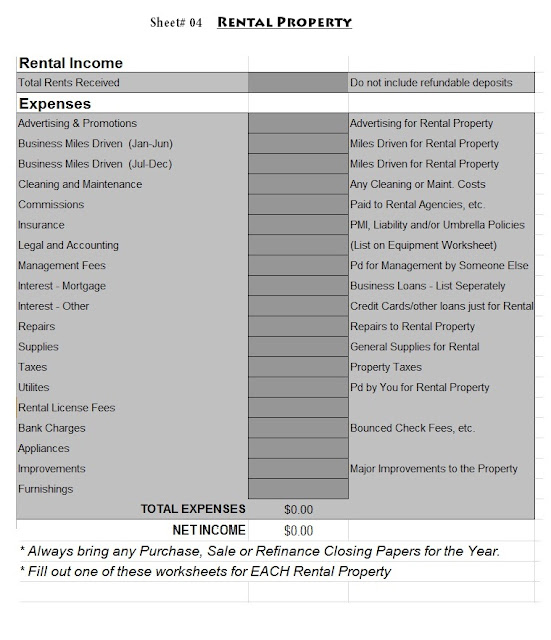 Tax Worksheet 2013