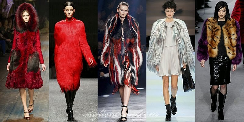 Fall Winter 2014 - 2015 Women's Fur Coats Fashion Trends