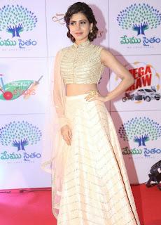 Actress Samantha Latest Pictures in Stylish Dress at Memu Saitam Dinner with Stars Red Carpet  1).jpg