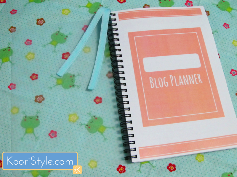 Cute Kawaii Koori Style  KooriStyle Weekly Monthly Blog Planner Agenda Organization Printable PDF Blogging