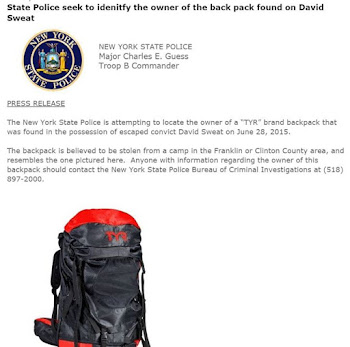 State Police Seek Owner of David Sweat's Backpack