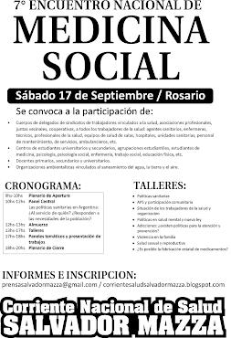 7º Encuentro Nacional de Medicina Social