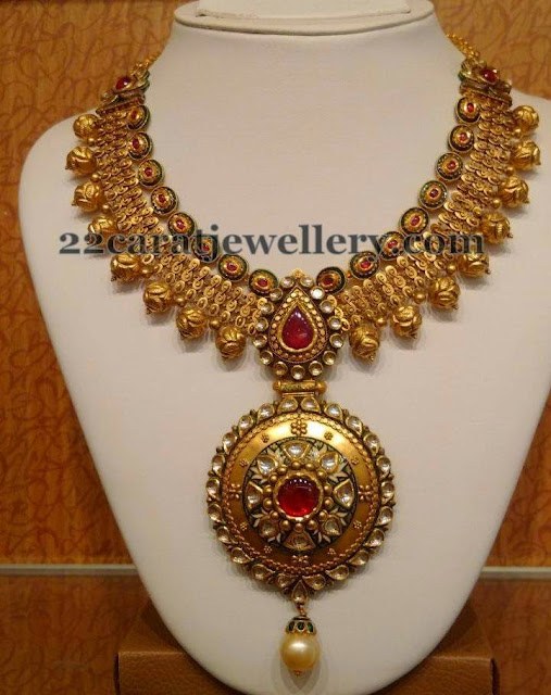 Antique Choker with Nakshi Balls